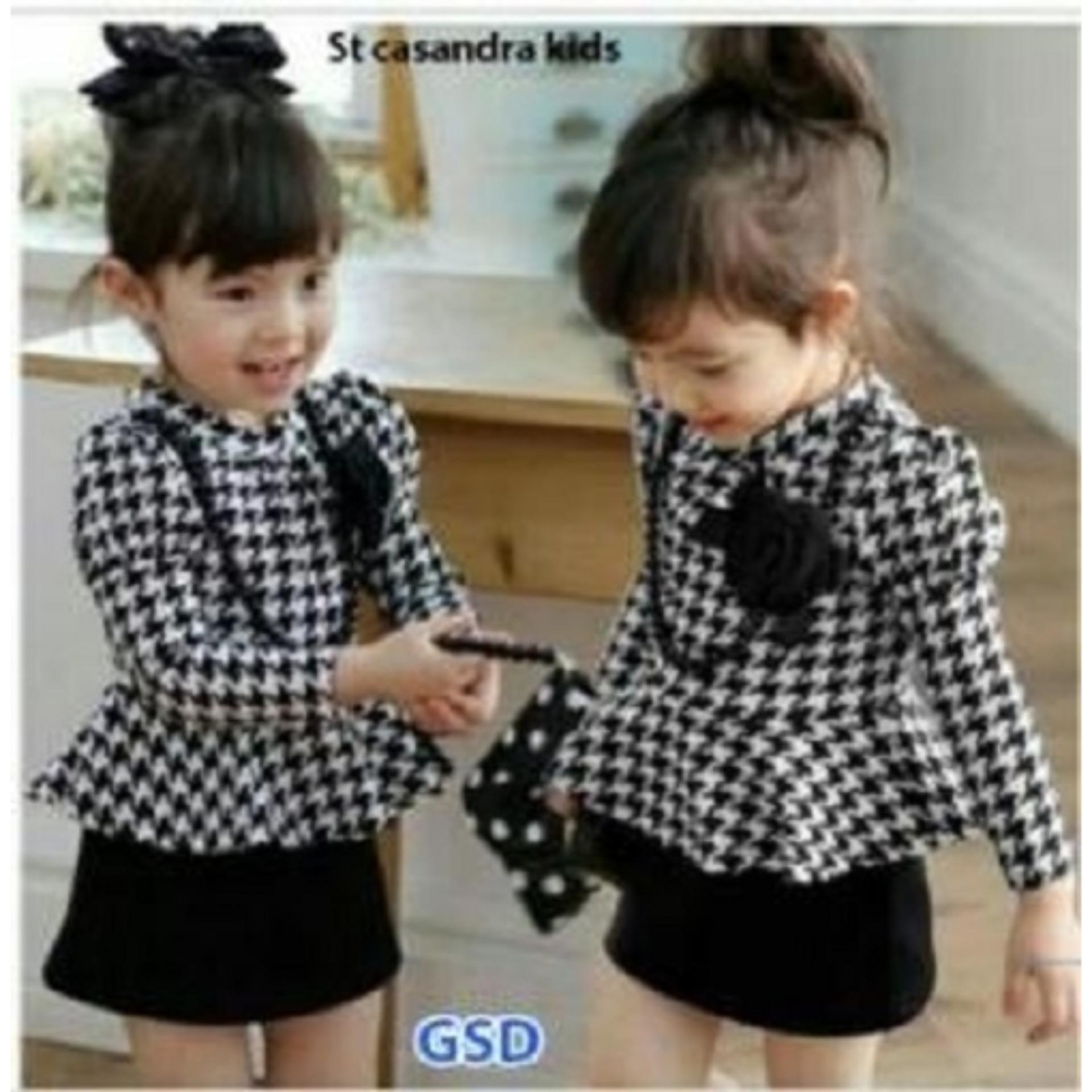 Nicer - Minidress Imut Anak Cewe - Dress Kid Brukat Benhur