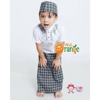 Harga Nea Orange Set Koko Sarung Instan Peci Anak Lebaran Motif Y Hitam Terbaru klik gambar.