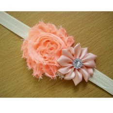 New Kids Baby Girls Balita Bayi Bunga Headband Hair Bow Band Aksesoris-Intl
