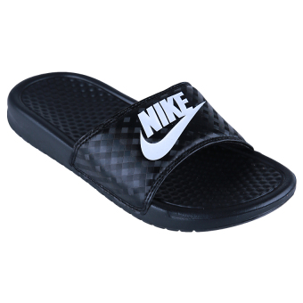 Nike Womens Benassi Just Do It Sandal - Black/White