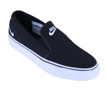 harga Nike Womens Toki Slip Canvas Sepatu Sneakers - Black/White Lazada.co.id