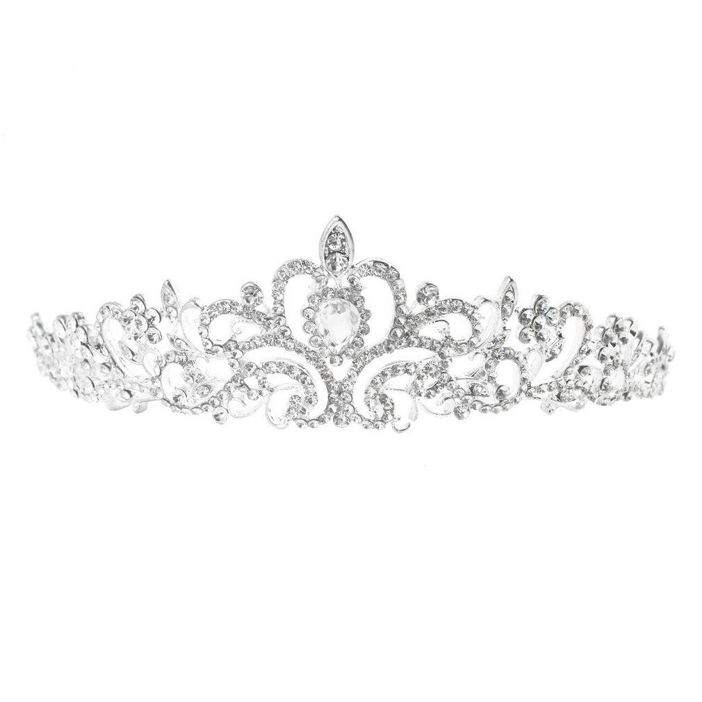 ... Flash Sale Oh Bridal pernikahan Tiara Crown Princess kristal Austria rambut aksesori Perak International
