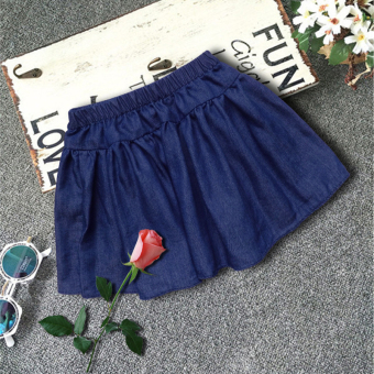 Oh yeah Korea Fashion Style denim fashion musim panas gadis di rok pendek (179)