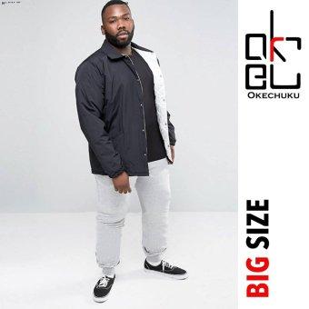 Okechuku Evan Celana Joger Big Size Jumbo Jogger Pants fit to 4XL (Abu muda)