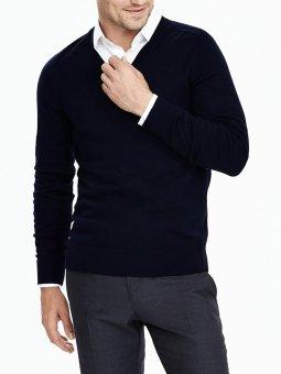 Okechuku Vleur Sweater Rajut Polos Pria (Black)