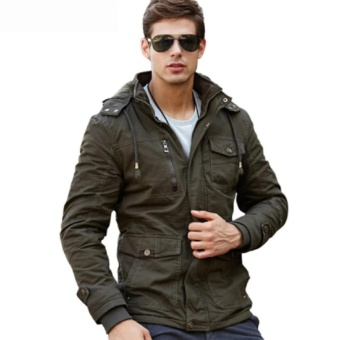 Onfirecloth - Jaket Pria High Quality Jacket - Army Green