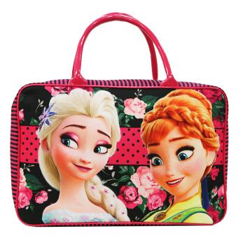 Onlan Travel Bag Karakter Anak Perempuan Bahan Kanvas Halus - Pink