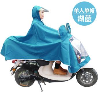 Perbandingan harga Orang dewasa ganda ponco sepeda motor jas hujan (Tunggal tunggal cap-Sky Blue) Harga Penawaran