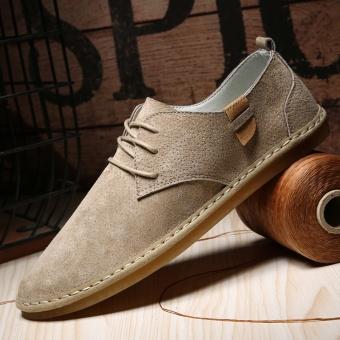 harga Orang Malas Musim Gugur Baru Sepatu Kulit Kacang (Khaki) Lazada.co.id