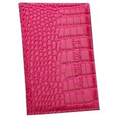 Ormano Cover Dompet Paspor Croco Exclusive - Pink Tua