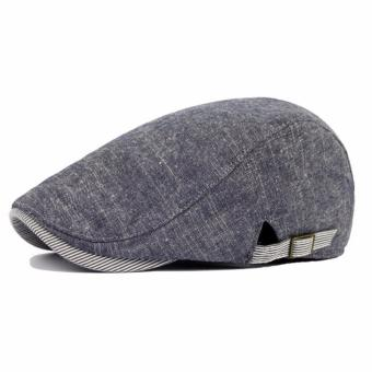 Ormano Topi Golf Summer Duckbill Pet Outdoor Fashion Garis Line Depan K042  - Biru Tua 7f988d7c39