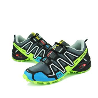 Outdoor Breathable Hiking Running Shoe Sneakers(Green) - intl