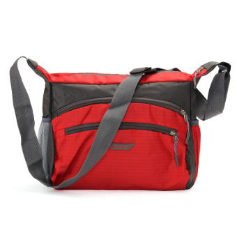Outdoor Sports Travel Bags Waterproof Nylon Shoulder Bags Travel Luggage Suitcase Men Women Crossbody Bag Handbags Casual Style Messenger Bolsa Unisex Red - intl