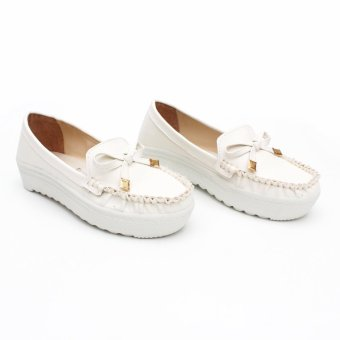 Harga Own Works JR Slip On Ribbon - Putih