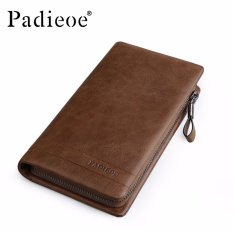 Rp 588.600. Padieoe Vintage Style Cow Leather Male Clutch Bag Genuine Leather Clutch Wallet Zipper Male Purse Long ...