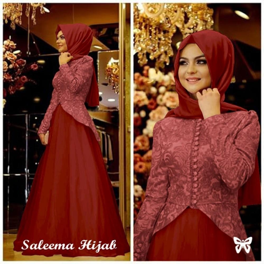 Pakaian Muslimah Wanita Fashionable - Gamis Salema