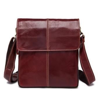 Panas Dijual Laki-laki Tas Kulit Asli Tas Messenger Pria Shoulder Bags-Intl