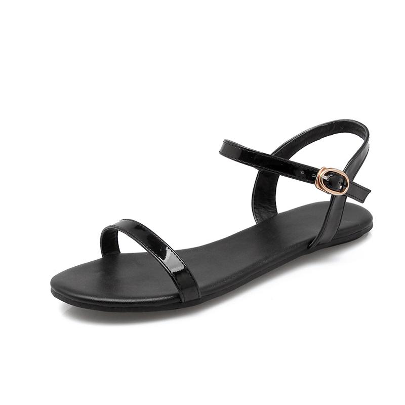Sederhana hitam bersol lembut sepatu sandal datar siswa Putih . Source · Pantai yang lembut bawah wanita flat shoes untuk wanita hamil sepatu sandal (Hitam)