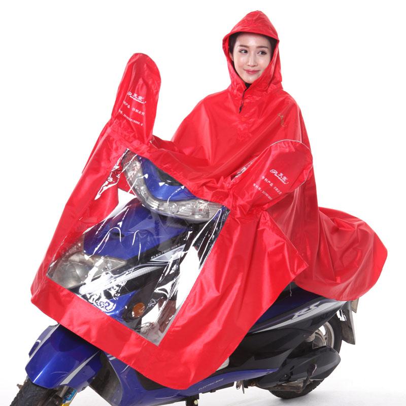 Flash Sale Paradise ganda tunggal jas hujan (Merah [tunggal bagian tebal])