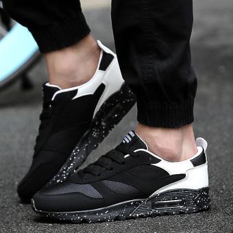 Pasangan baru musim gugur sepatu pria sepatu sneaker (Hitam dan putih)