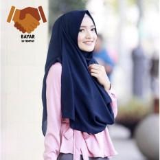 Parisku hijab segiempat katun premium egypt blue new. Source · Pashmina Instant Raisa - Navy