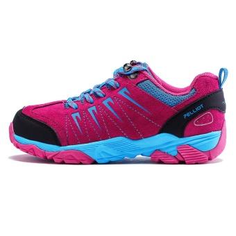 Pelliot tergelincir mendaki sepatu hiking luar ruangan sepatu hiking (Mawar merah)