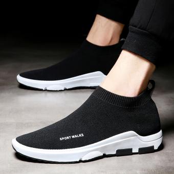 Jual Pemuda Korea bernapas jala pria pasang sepatu musim panas sepatu  olahraga (Hitam) Terpercaya 96bdfc2a25