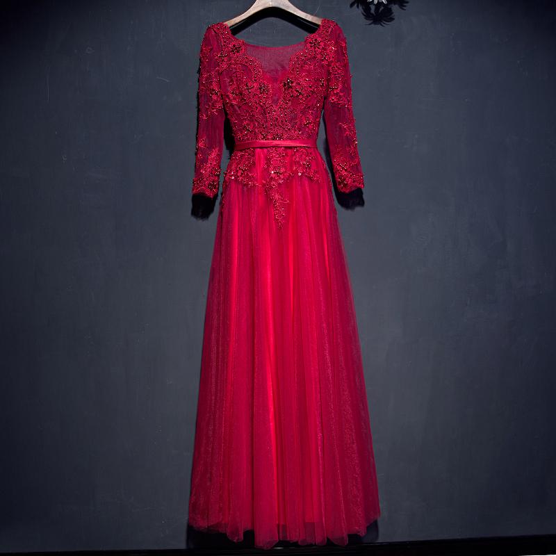 Flash Sale Pengantin baru musim gugur dan musim dingin ukuran besar gaun malam toast pakaian (