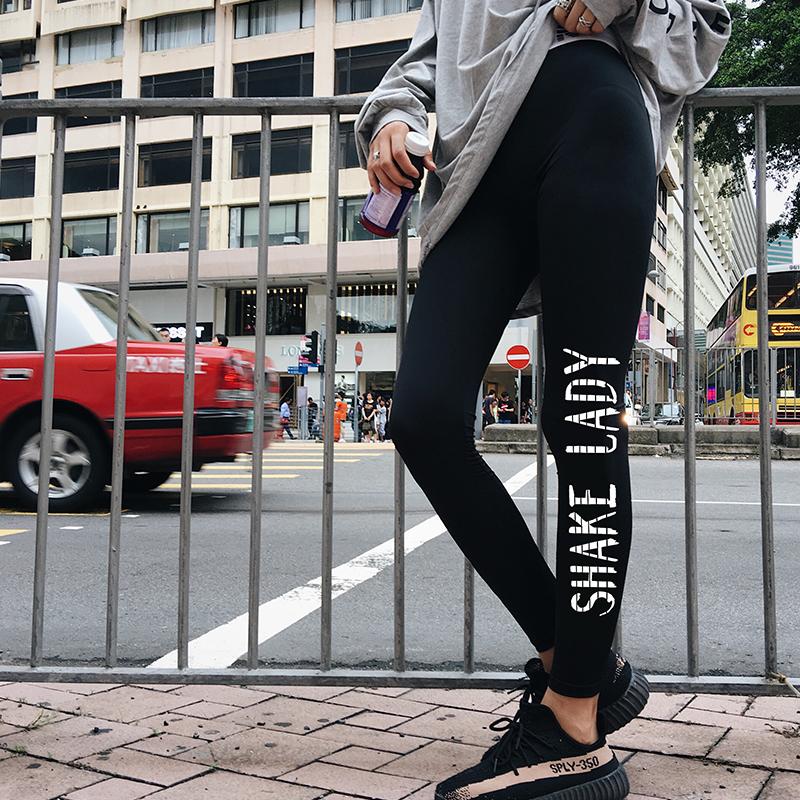 Perempuan luar memakai musim gugur baru hitam celana kaki bottoming celana ( Hitam)