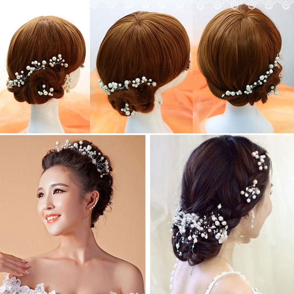 Oriental Style Retro Perempuan Jepit Rambut Baru Klasik Pernikahan Pengantin Pengiring Bunga Kesemarakan Pin Mutiara Putih