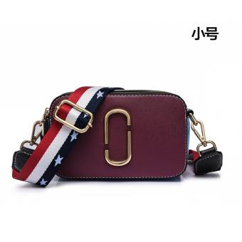 Persegi kecil Korea Fashion Style tas perempuan bahu tas wanita memukul warna tas (Merah anggur