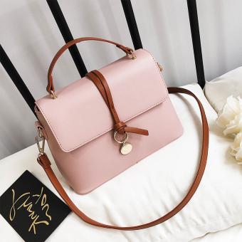 Persegi kecil Korea Fashion Style wanita baru tas tangan tas tas (Merah muda )