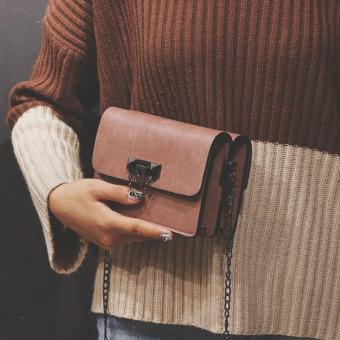 ... Persegi kecil perempuan baru Korea Fashion Style Messenger tas tas Merah muda