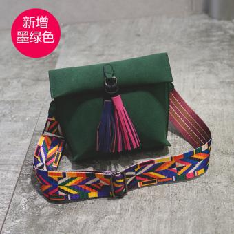 Persegi kecil retro pita lebar tas tas tas tas kecil (Retro hijau)