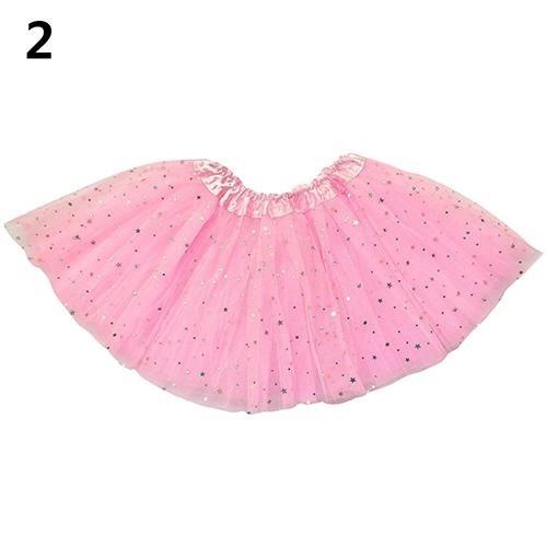 Phoenix B2C Girls Kids Pesta Balet Dansa Pakaian Star Dot Tutu Rok Dress Pettiskirt Baju Anak (Pink)-Intl