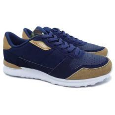 Piero Sepatu Sneakers Steel Runner - Navy Brown White