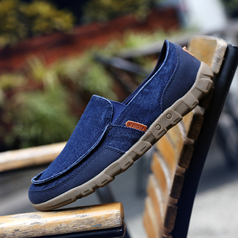 PINSV Kanvas Datar Kasual Her The Man Loafers Was Wearing (Angkatan Laut) .