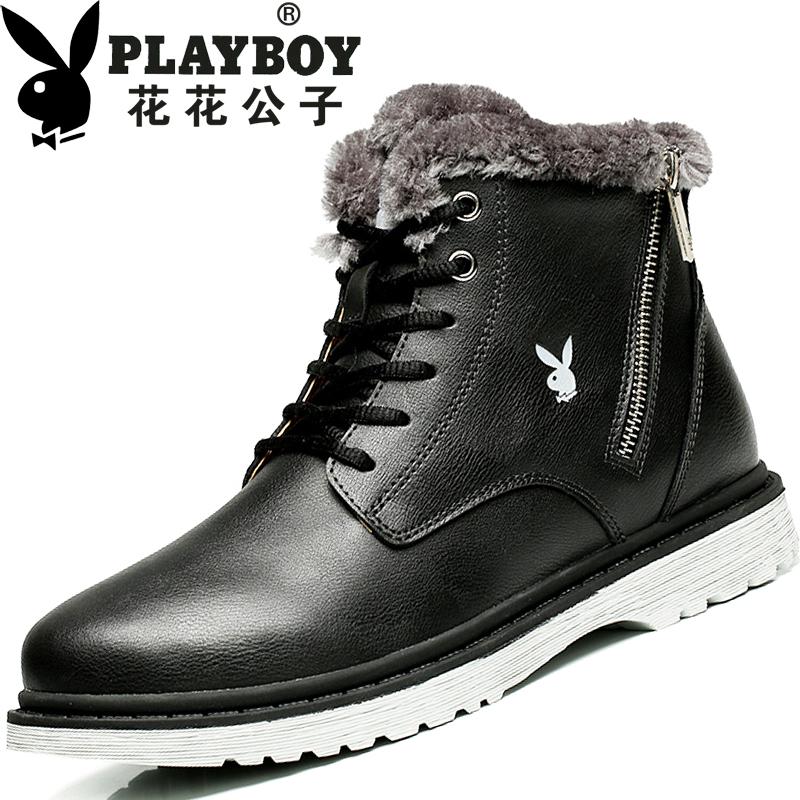 Flash Sale PLAYBOY ditambah beludru laki-laki yang berat itu sepatu boots pria laki-