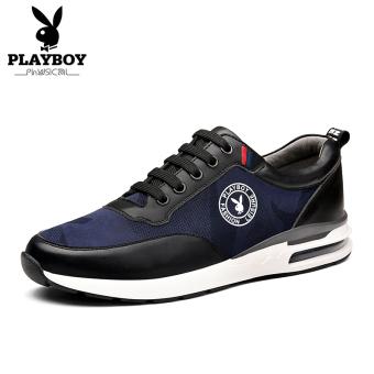 Beli PLAYBOY Gaya Korea baru musim gugur pria sepatu kasual sepatu pria  (Biru tua) Terpercaya 30c8e6eed0