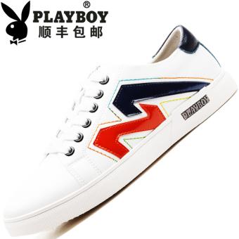 PLAYBOY Inggris baru sepatu pria sepatu sepatu (Putih .. merah keunguan)