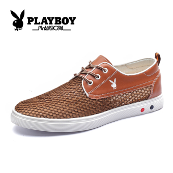 PLAYBOY jala sepatu, sepatu kasual jala sepatu (Coklat)