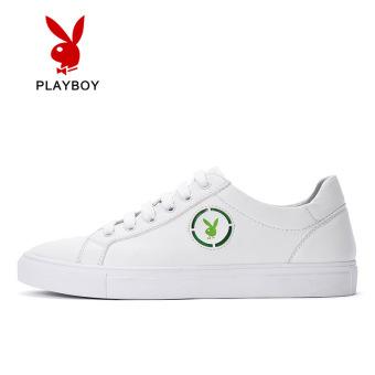 PLAYBOY Korea Fashion Style laki-laki BayMini sepatu sepatu pria (Model laki-laki + Putih ayat ini sepatu kulit yard 40 yard = sepatu sneaker 41 yard yang normal)