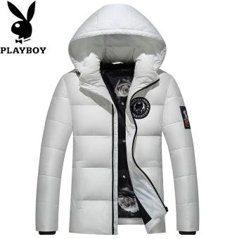 Pencari Harga PLAYBOY Korea Fashion Style Laki-laki Slim Musim Dingin Jaket  Pria Mantel Musim 4aed5e2deb