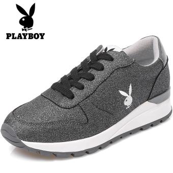Beli PLAYBOY Korea Fashion Style Perempuan Datar Musim Dingin Sepatu Wanita Sepatu  Running Sepatu Sneakers (Perak) Online 5cdc2604f6