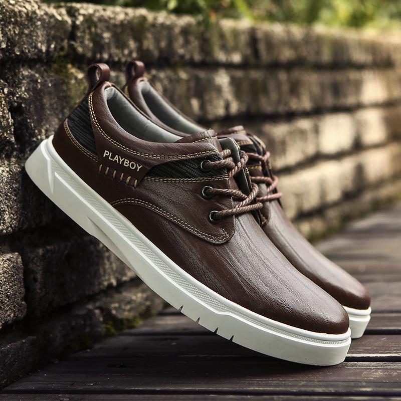 Cheap online PLAYBOY Korea Fashion Style pria dan sepatu kasual pria sepatu  pria (Coklat) 9f20417aee