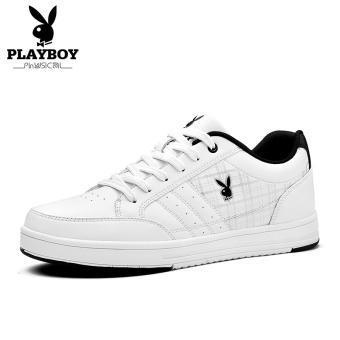 PLAYBOY Korea Fashion Style Siswa Sepatu Kets Putih Sepatu Pria Anak Sepatu Pria (Putih)