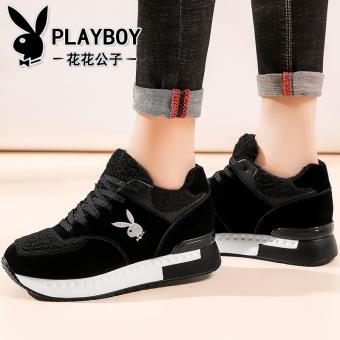 Beli PLAYBOY Korea Fashion Style Tambah Beludru Hitam Perempuan Sepatu  Wanita Sepatu Santai (50836 Hitam) Terpercaya 89d86d4559