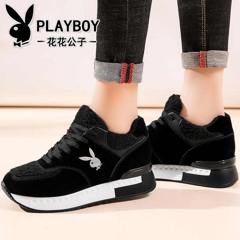 Flash Sale PLAYBOY Korea Fashion Style Tambah Beludru Hitam Perempuan Sepatu Wanita Sepatu Santai (50836