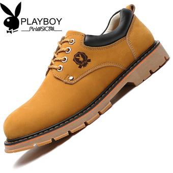 Pelacakan Harga PLAYBOY Musim Gugur Baru Kepala Besar Sepatu Kulit Sepatu  Pria (Kuning Emas) 99a3870652
