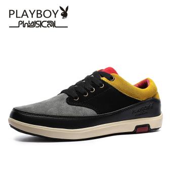 Beli PLAYBOY musim gugur gelombang baru sepatu pria (Hitam/coklat kekuningan) Baru